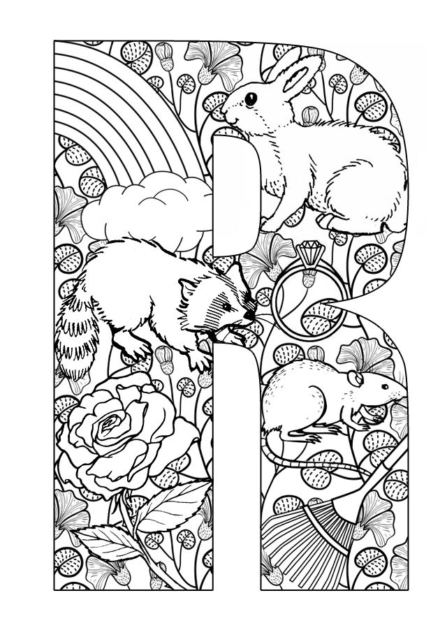letter r coloring pages for adults letter r is for rat coloring pages printable alphabet kids coloring for pages adults r letter