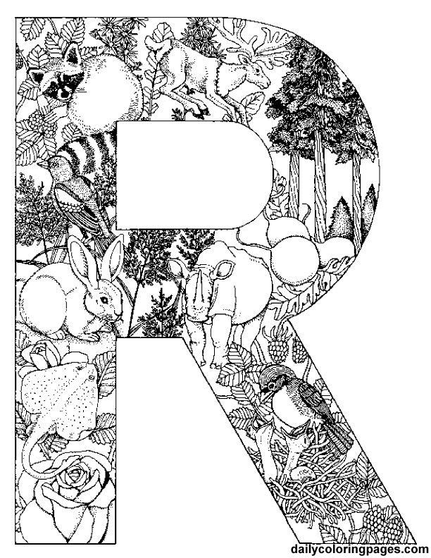 letter r coloring pages for adults letter r with plants super coloring r for pages letter adults coloring