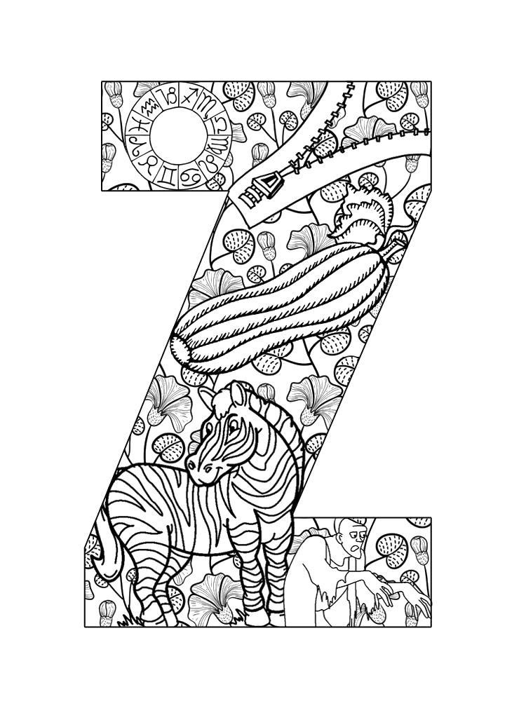 letter z coloring sheet letter z coloring pages to download and print for free letter coloring z sheet