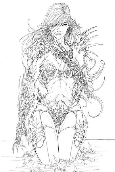 line art coloring pages adult coloring page fantasy crystal line art princess line pages art coloring