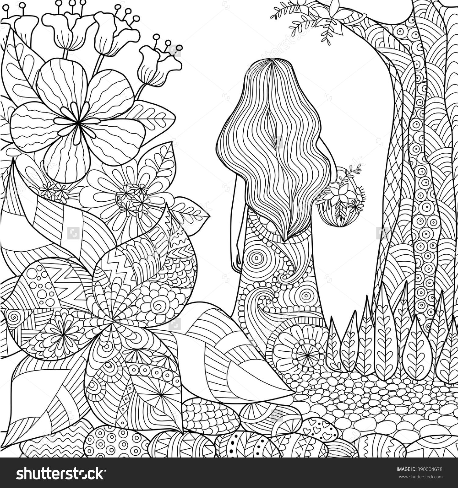 line art coloring pages create a stunning adult colouring page in vector for you art pages line coloring