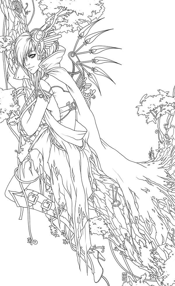 line art coloring pages witchblade line art by jamietyndall line art art pages coloring art line