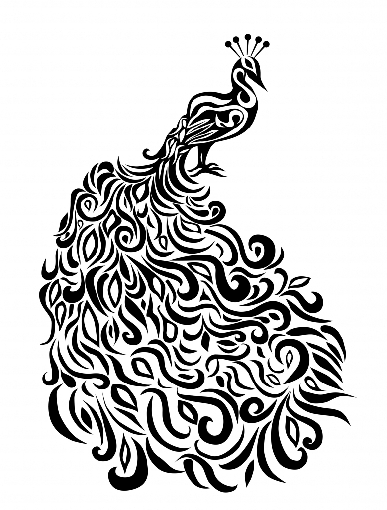line drawing of peacock peacock coloring pages clipart panda free clipart images of line peacock drawing