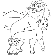 lion family coloring pages lion coloring pages free printable coloring pages at family lion coloring pages