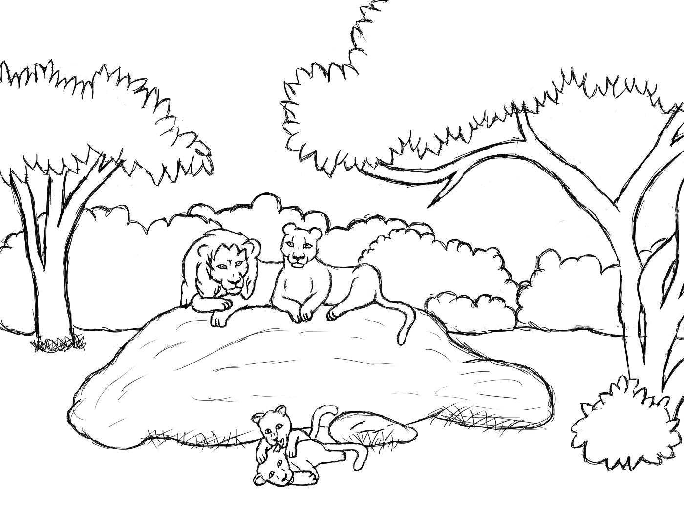 lion family coloring pages the lion king family coloring page download print family lion coloring pages