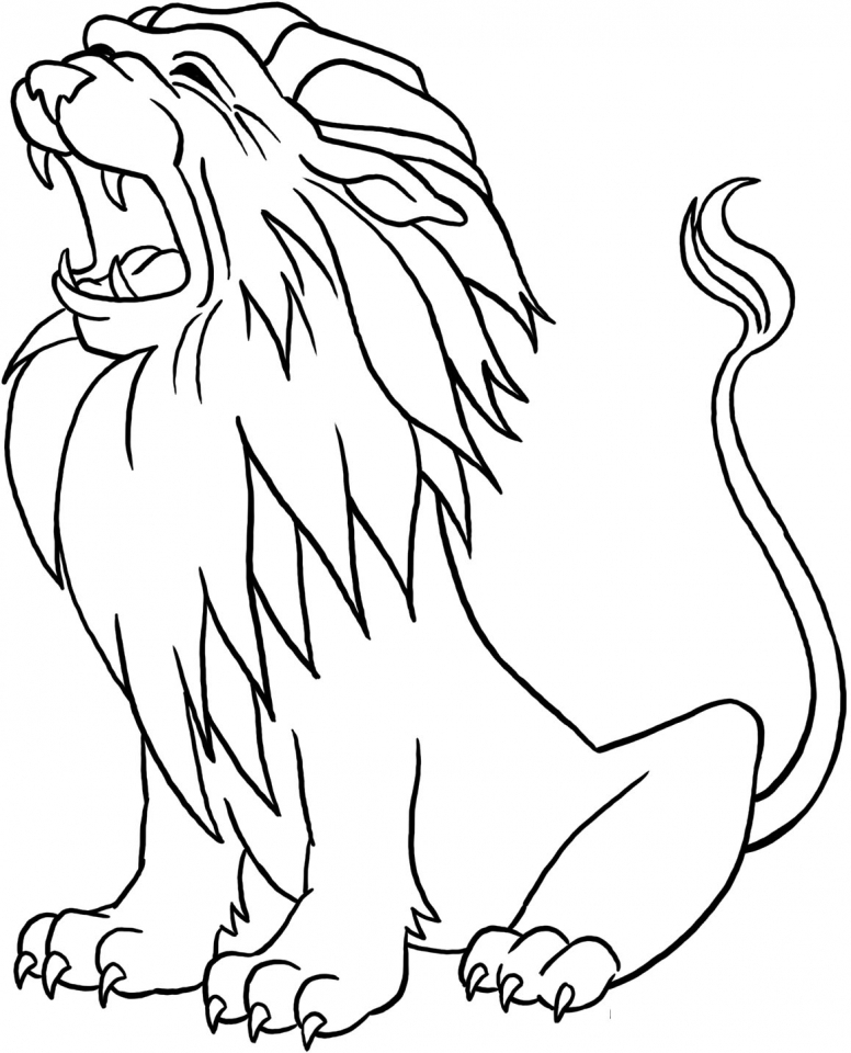 lion printable free easy to print lion coloring pages tulamama printable lion 1 1