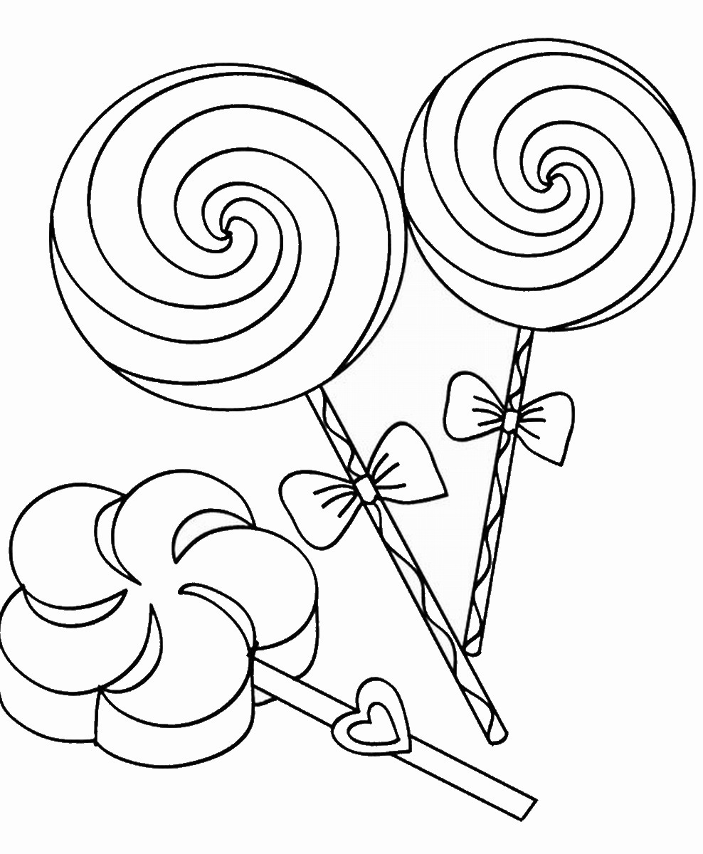 lollipop coloring pages candy and lollipop coloring page of food mitraland coloring pages lollipop