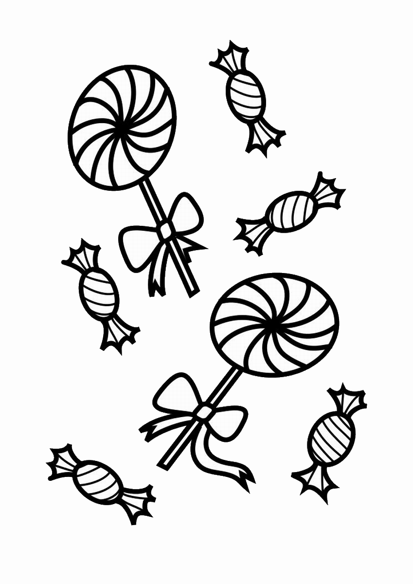 lollipop coloring pages get this free simple candy coloring pages for children af8vj lollipop coloring pages