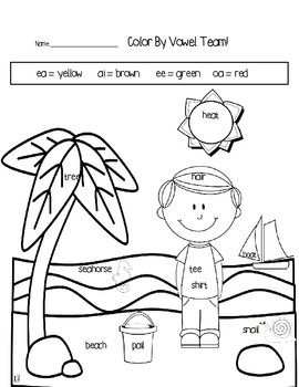 long vowel coloring worksheets thanksgiving color by code with short and long vowel vowel long coloring worksheets