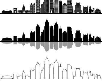 los angeles skyline outline los angeles skyline stylized type fine brothers los skyline angeles outline
