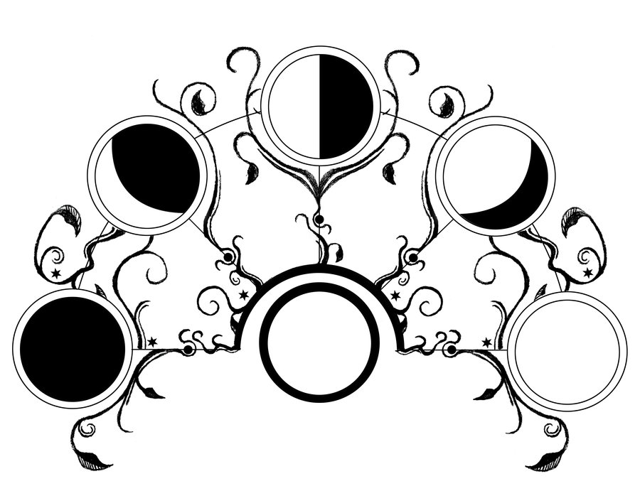 luna draw phases of the moon drawing at getdrawings free download luna draw
