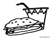 lunch food coloring pages coloring page lunch foods b img 5944 lunch coloring pages food