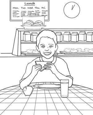 lunch food coloring pages coloring page of lunch tray pages for all ages clip art lunch pages coloring food