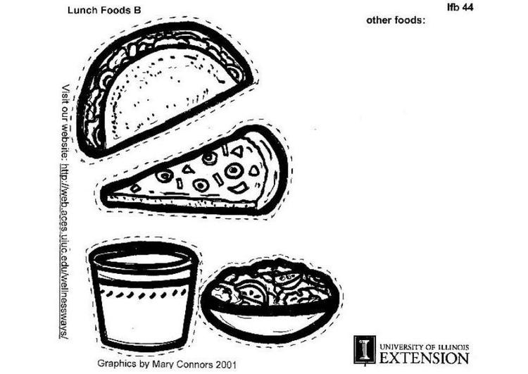 lunch food coloring pages girls trading lunches coloring page coloring lunch pages food