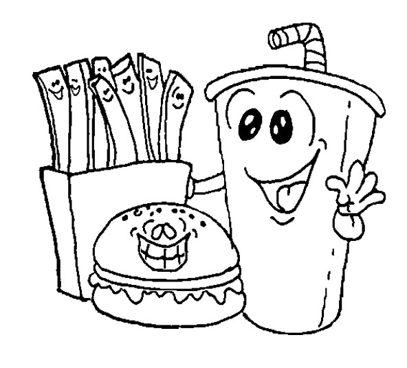 lunch food coloring pages kids menu coloring page at getcoloringscom free pages food lunch coloring