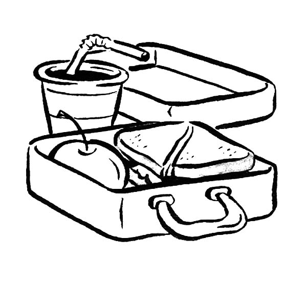 lunch food coloring pages library of covered dish lunch black and white svg black coloring food lunch pages