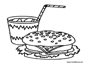 lunch food coloring pages lunch box coloring page clipart panda free clipart images food lunch coloring pages