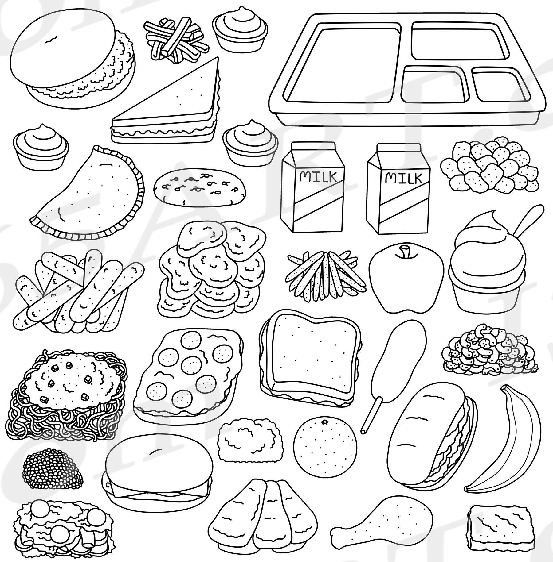 lunch food coloring pages lunch box coloring page free download on clipartmag lunch food pages coloring