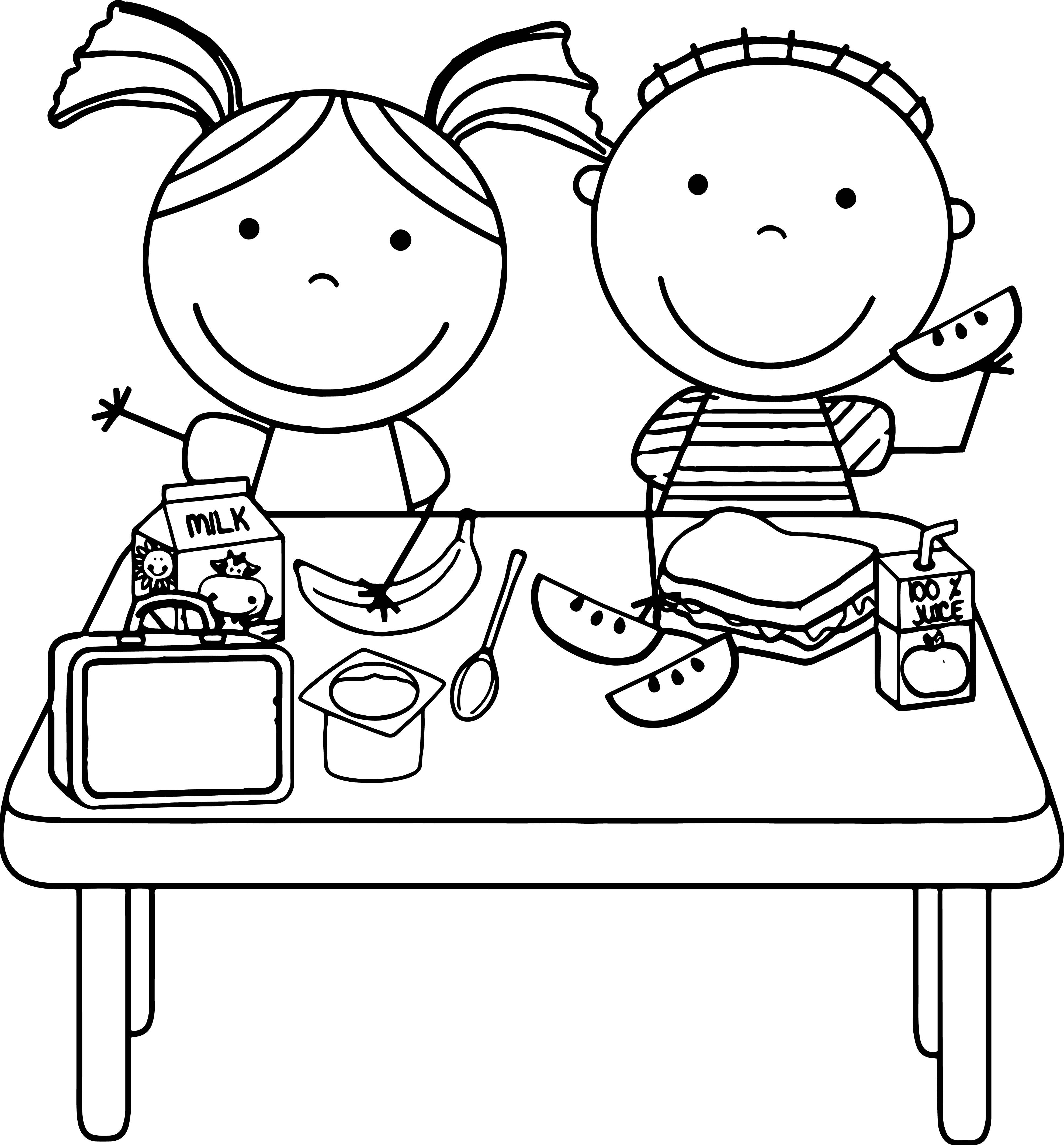lunch food coloring pages lunch images coloring pages coloring book food pages lunch coloring