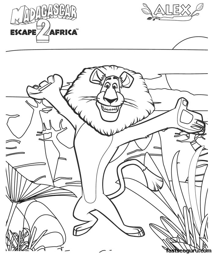 madagascar 3 coloring pages kids n funcom 24 coloring pages of madagascar 3 3 coloring madagascar pages