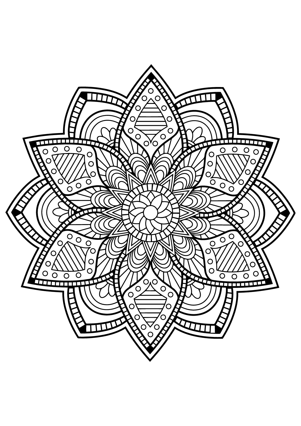 mandalas to color free difficult mandala coloring pages coloring home color mandalas free to
