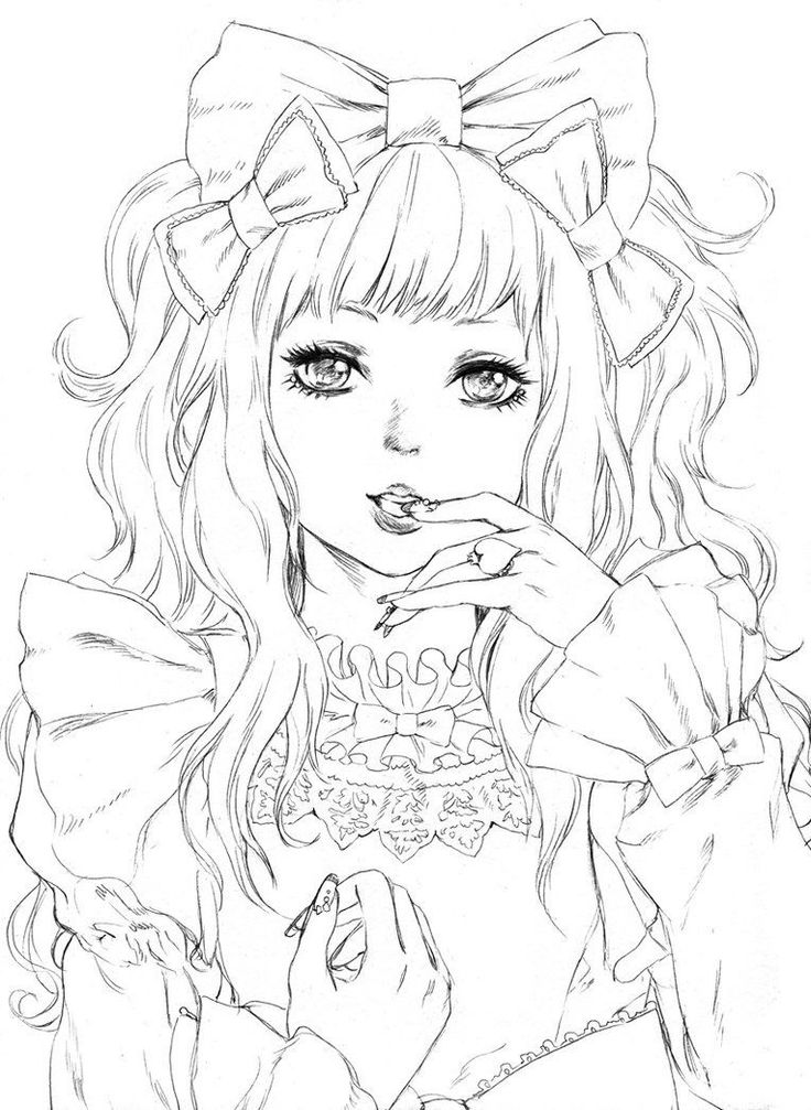manga anime coloring pages anime girl coloring page by creampuffchan on deviantart manga pages coloring anime