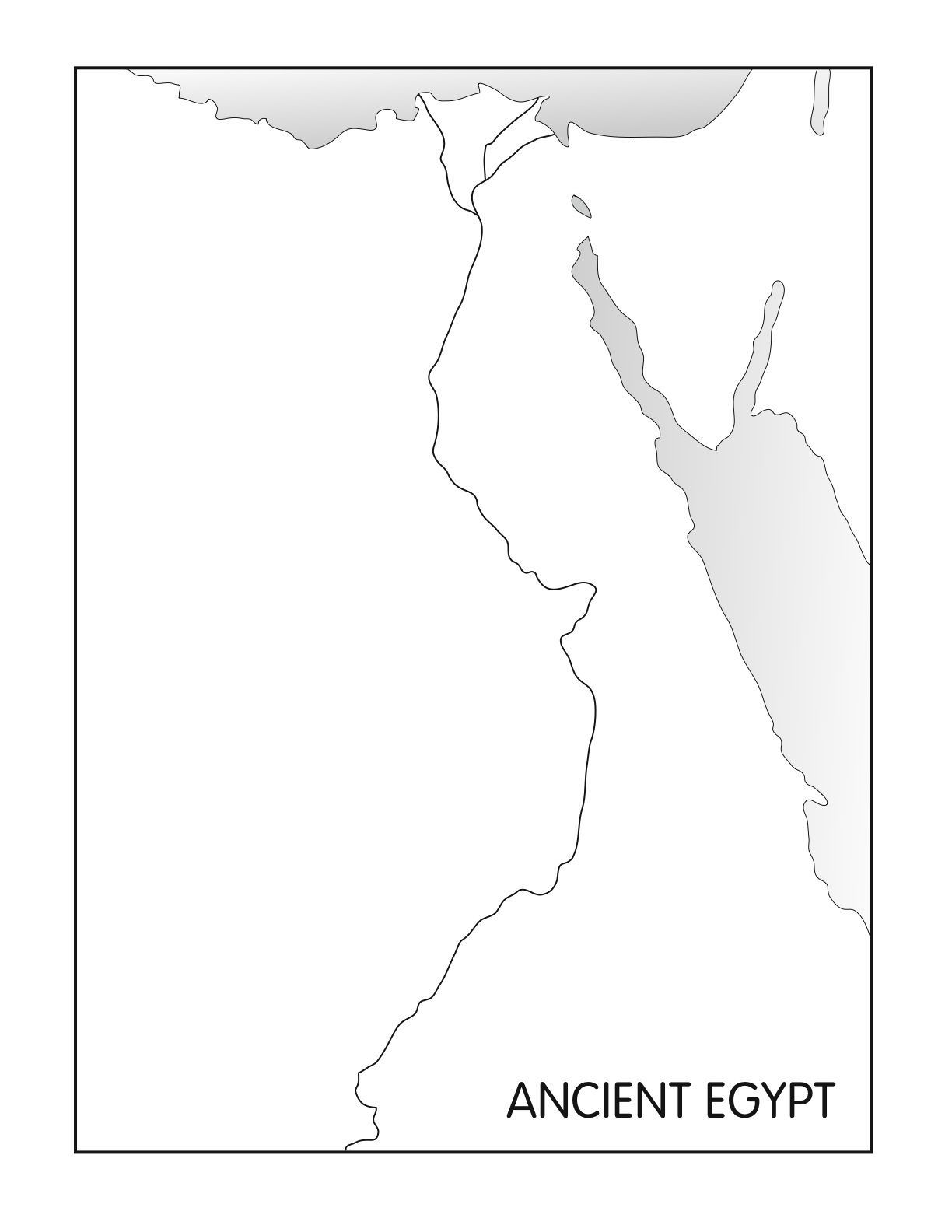 map of egypt coloring page ancient civilizations worksheets 6th grade google search page egypt of map coloring