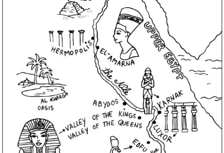 map of egypt coloring page ancient egypt map colouring page school history egypt of coloring map page