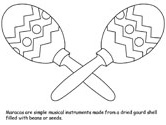 maracas coloring page 39 best images about preschool fiesta on pinterest page maracas coloring