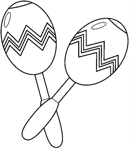 maracas coloring page maracas coloring page at getdrawings free download coloring maracas page