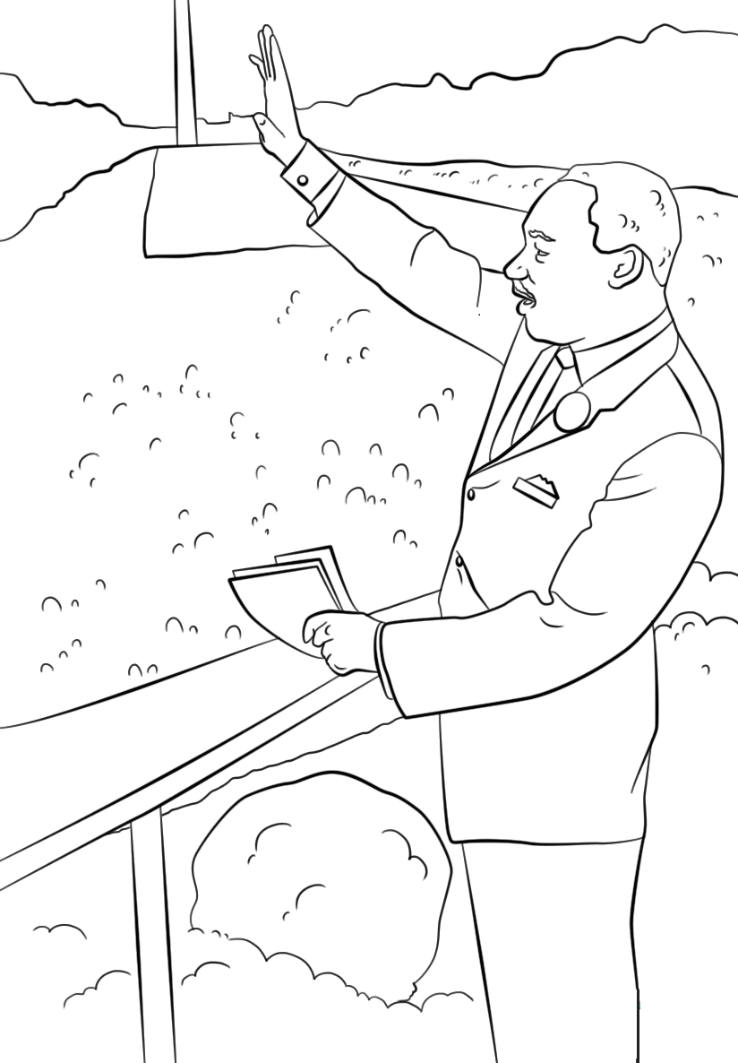 martin luther coloring page free printable martin luther king jr day mlk day page coloring luther martin