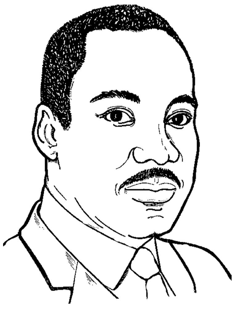 martin luther coloring page free printable martin luther king jr day mlk day page luther martin coloring
