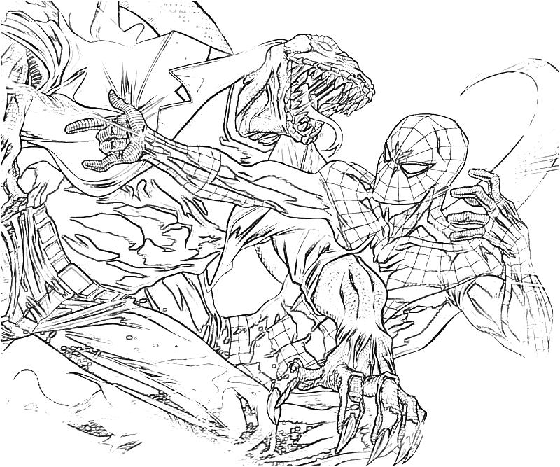 marvel lizard coloring pages learn how to draw lizard from ultimate spider man pages coloring marvel lizard