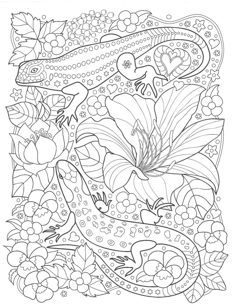 marvel lizard coloring pages lizards in the garden with flowers coloring pages for you pages marvel lizard coloring
