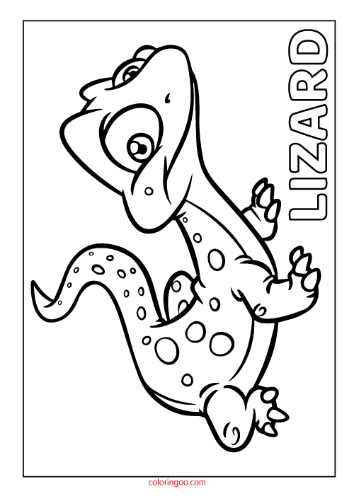 marvel lizard coloring pages printable lizard coloring page pdf for kids pages coloring lizard marvel