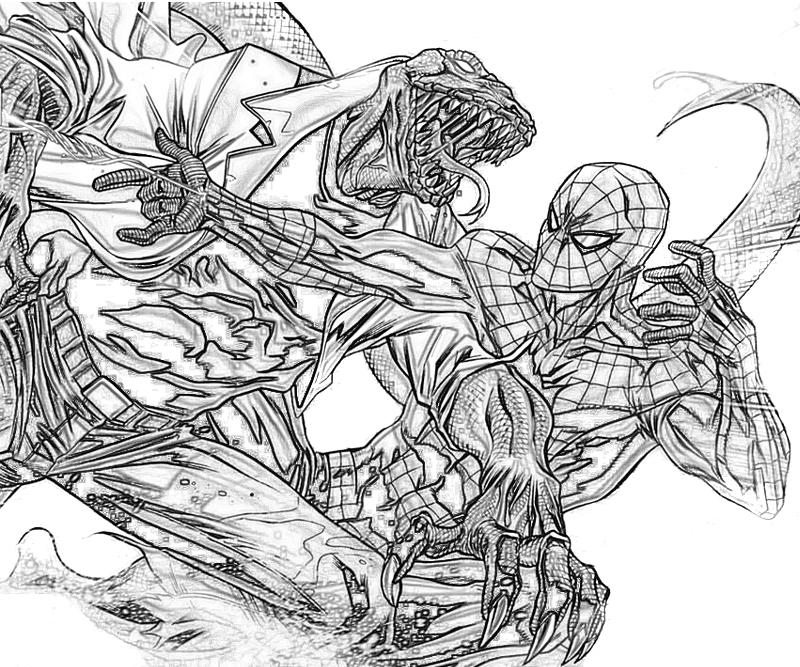 marvel lizard coloring pages spiderman coloring pages color online free printable lizard marvel coloring pages