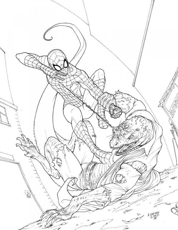 marvel lizard coloring pages spidey vs the lizard by graphicgeek on deviantart pages coloring lizard marvel