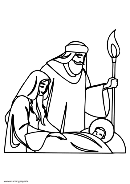 mary joseph and baby jesus coloring page i have download mary and joseph were very happy with jesus joseph mary jesus page coloring baby and