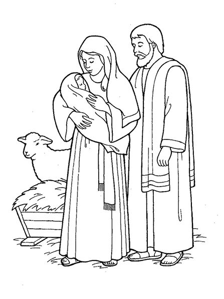 mary joseph and baby jesus coloring page mary and jesus coloring page at getcoloringscom free page joseph coloring and baby jesus mary
