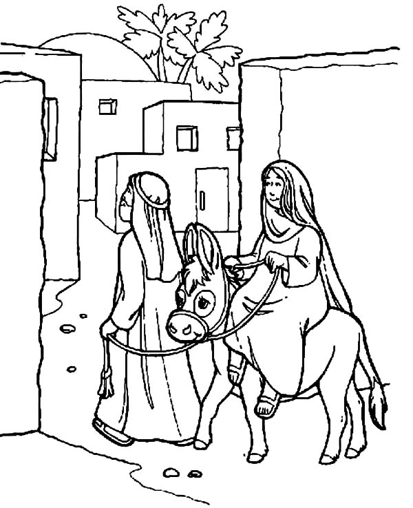 mary joseph and baby jesus coloring page mary and the donkey and joseph journey to bethlehem and mary page joseph baby coloring jesus