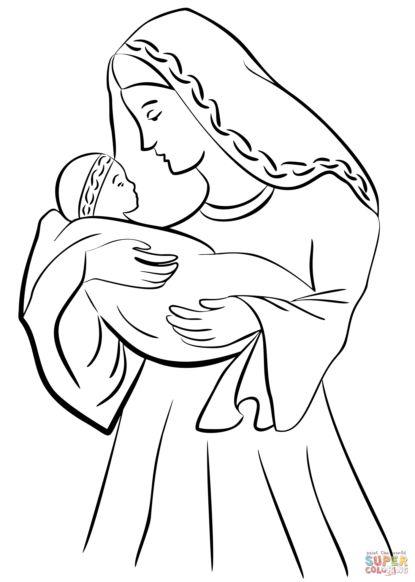 mary joseph and baby jesus coloring page mary put baby jesus on a manger coloring page mary put mary coloring and baby joseph page jesus