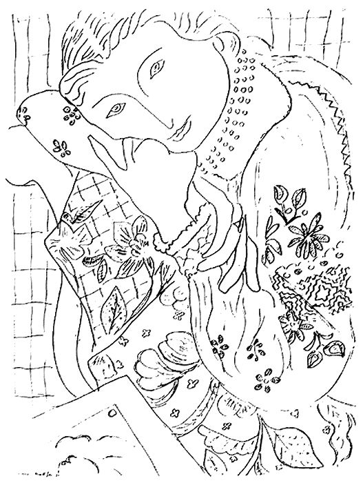 matisse coloring pages henri matisse still life with oranges kleurplaten pages coloring matisse