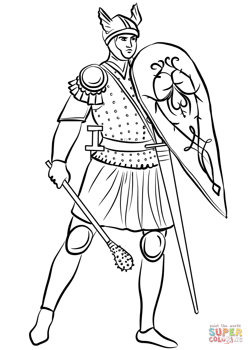 medieval knight coloring pages medieval soldier with mace coloring page free printable coloring pages medieval knight