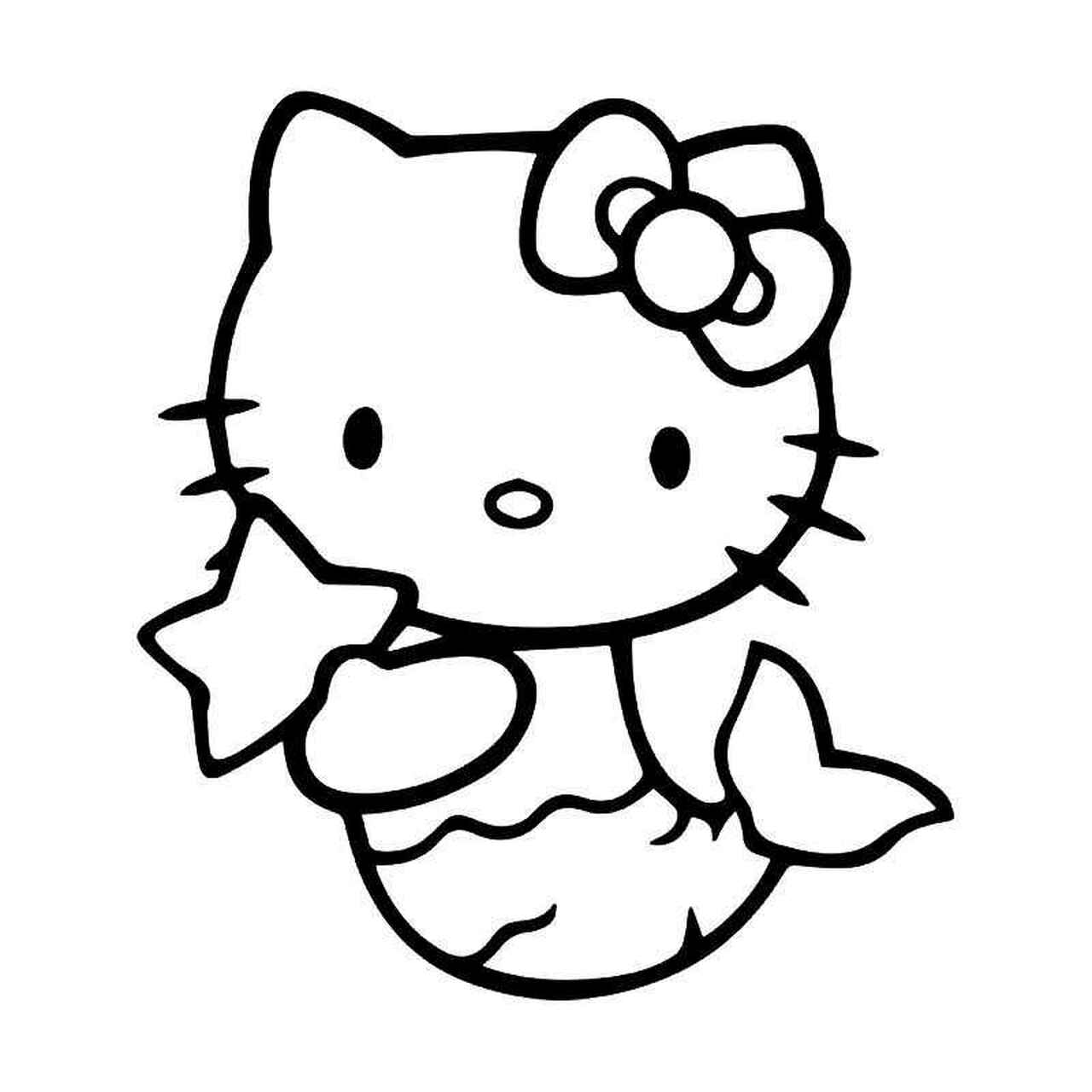 mermaid kitten coloring pages hello kitty mermaid vinyl sticker kitten coloring mermaid pages