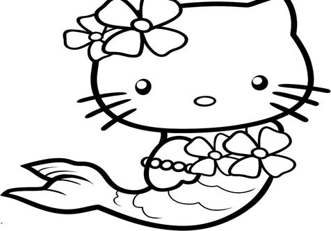 mermaid kitten coloring pages hello kitty princess coloring pages how to draw mermaid kitten pages mermaid coloring