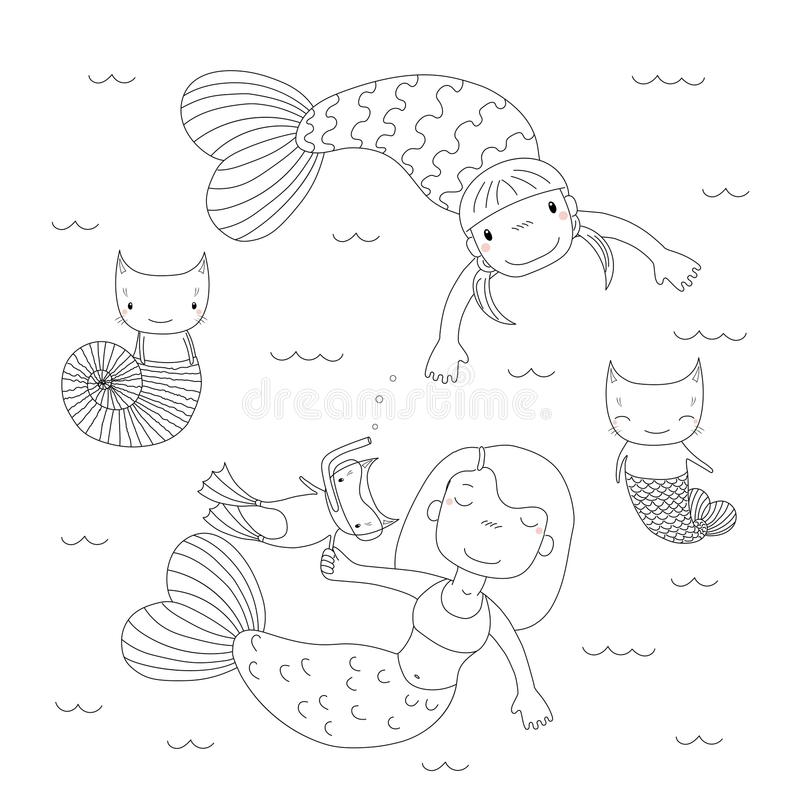 mermaid kitten coloring pages puppy and kitten coloring pages puppy coloring pages pages kitten coloring mermaid
