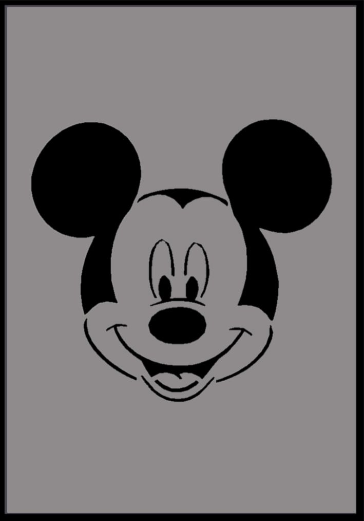 mickey mouse for painting mickey mouse icon paint stencil a5 a4 a3 sizes on onbuy mouse painting mickey for
