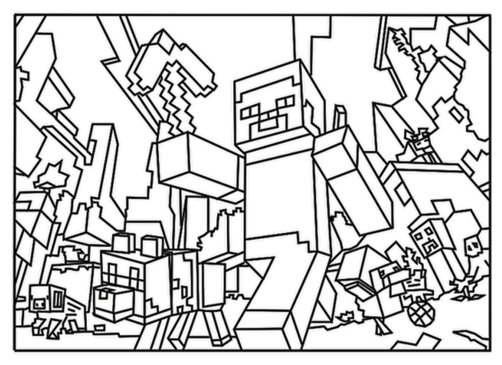 minecraft colour pages best hd minecraft page coloring sheets images free pages colour minecraft