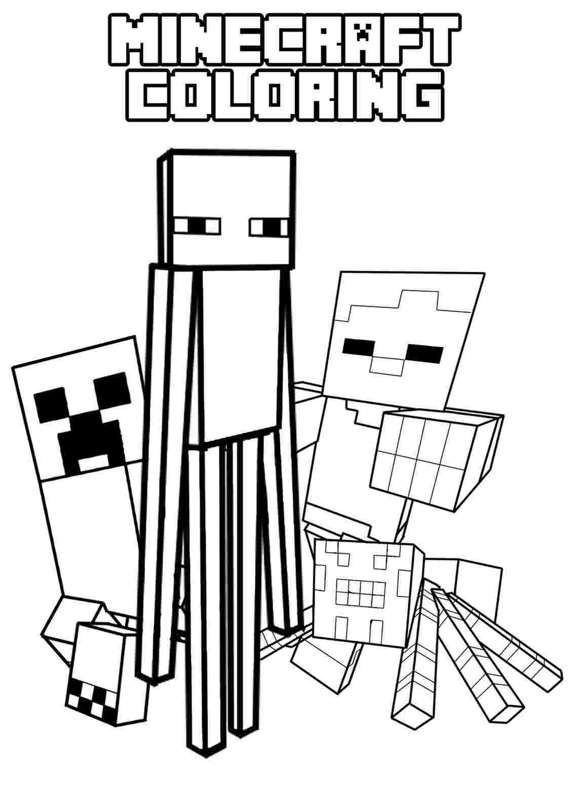 minecraft colour pages minecraft mobs a minecraft coloring page for kids colour pages minecraft