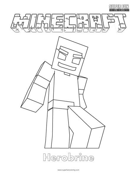 minecraft pictures to print of herobrine minecraft herobrine coloring page super fun coloring minecraft of print pictures herobrine to